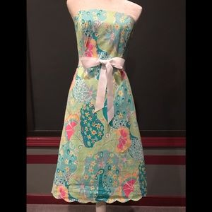 Likely Pulitzer strapless dress size 6